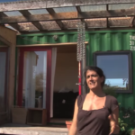 Lulu, at her shipping container home in California