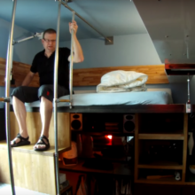 Steve Sauer's downtown Seattle micro apartment squeezes everything within 182 square feet