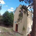 Location: tiny skinny home feels big facing Bend's mountains