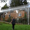 Stockholm family wraps home in greenhouse to warm up weather