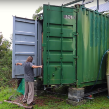 Paul Chambers container, off-grid house in Australia