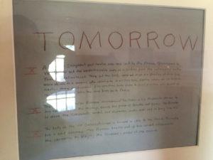 Faulkner anotaba en la pared de su estudio