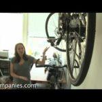 Space saving furniture: storage bed and indoor bike rack