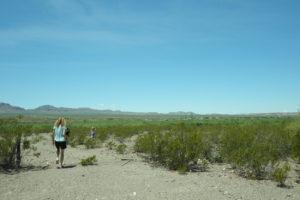 Territorio desértico y aislado de la frontera Tex-Mex de West Texas