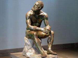 Púgil en reposo (bronce, s. I a.C.)