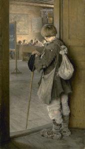 """""""A las puertas de la escuela"""" (Bogdanov-Belsky, 1897)"""