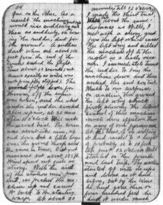 Entrada del diario de Orville Wright fechada el 17 de diciembre de 1903. Los hermanos Wright siguieron perfeccionando sus vuelos, pese a pasar desapercibidos