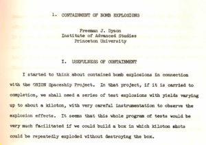 Explicación del uso de explosiones nucleares como propulsión