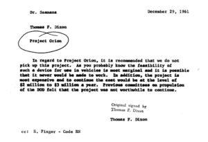 Cancelación oficial del Proyecto Orión