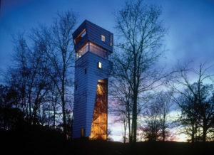 La casa-torre Keenan, en Arkansas, con una altura de 15 metros sobre el nivel del suelo