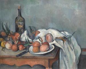 "Paul Cézanne, ""Bodegón con cebollas"" (1896)"