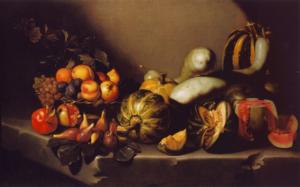 """Caravaggio, """"Bodegón con fruta"""" (1605-1610)"""