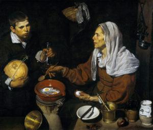 """Diego Velázquez, """"Vieja friendo huevos"""" (1618)"""