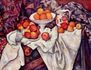 """Paul Cézanne, """"Bodegón con manzanas y naranjas"""" (1895)"""