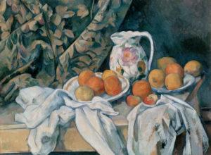 """Paul Cézanne, """"Bodegón con cortina"""" (1895)"""