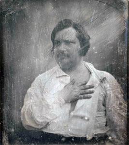 Honoré de Balzac (1799-1850). Daguerrotipo de Louis-Auguste Bisson (1814-1876)