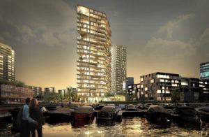 Haut, rascacielos residencial de madera CLT con 21 plantas (Team V Architectuur, Lingotto, Nicole Maarsen y ARUP)