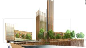 Michael Green, un arquitecto de Vancouver, ha propuesto Baobab, un complejo residencial y comercial de madera CLT para París