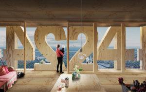 Tratoppen: interior del rascacielos conceptual de CLT (y 40 plantas) diseñado por Anders Berensson Architects