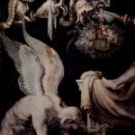 Fresco del dios griego Kairós, que representa el tiempo cualitativo (un lapso indeterminado en que algo importante sucede) y relativo, a diferencia del dios del tiempo cuantitativo, Cronos (fresco del pintor italiano del XVI Francesco Salviati)