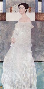 Margarita, hermana de Ludwig Wittgenstein, retratada en 1905 por Gustav Klimt