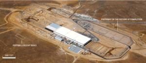 Estado actual de Gigafactory 1, la factoría de baterías eléctricas que Tesla ha instalado en el desierto de Nevada, con intención de controlar la producción y el precio de las baterías (componente estratégico en los coches eléctricos)