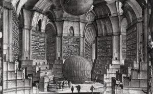 """Ilustración que evoca la """"biblioteca de Babel"""", artilugio matemático descrito por Jorge Luis Borges en uno de sus cuentos más célebres"""