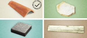 Materiales usados por Dyaqua en su producto de captación solar con materiales tradicionales Invisible Solar