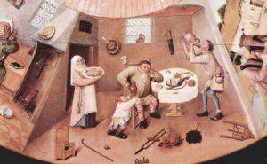 """Representación de la """"gula"""" por Jheronimus Bosch (El Bosco), 1505-1510"""