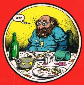"""Viñeta de Robert Crumb, perteneciente a la tira cómica """"Eat It"""" (junio de 1974)"""