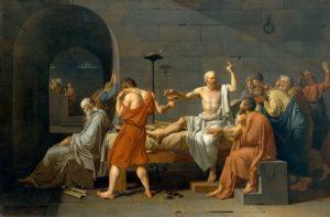 """""""La muerte de Sócrates"""" (La Mort de Socrate), Jacques-Louis David, 1787"""