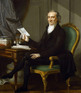 Thomas Paine retratado por Laurent Dabos (1791)