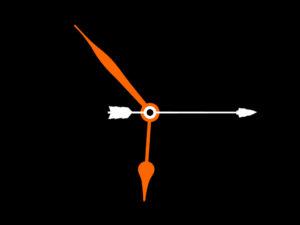 """Ilustración alegórica sobre la flecha del tiempo y la especulación acerca de su reversibilidad (revista """"Wired"""")"""