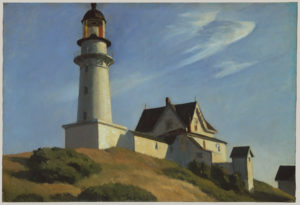 """The Lighthouse at Two Lights"", lienzo del pintor estadounidense Edward Hopper (1929)"