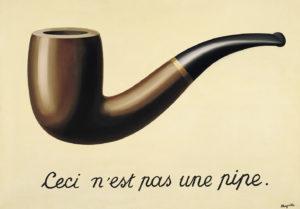 """René Magritte, de la serie """"La traición de las imágenes"""" (""""La trahison de les images"""", 1928-1929); en efecto, la representación de una pipa no es una pipa. Pronto sabremos qué quiere ser Facebook y en qué se queda; de momento, conocemos su postura incoherente con temas clave en sociedades democráticas, como libertad de expresión (no etiqueta información falsa como tal, pero prohíbe desnudos, incluso en arte) y censura (ha decidido autocensurarse para competir en China)"""