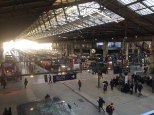 Imagen tomada desde el acceso a la zona del Eurostar