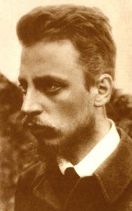 Retrato del poeta Rainer Maria Rilke, que confesaría en su correspondencia su admiración por Nietzsche y la influencia de éste sobre su obra (fotografía tomada el 18 de septiembre de 1900; Rilke tenía 24 años)