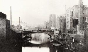 En la primera mitad del siglo XIX, Manchester, en el norte de Inglaterra, se convirtió en la primera ciudad industrial global