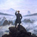 """""""El caminante sobre el mar de nubes"""" (Caspar David Friedrich); modificación de la serie """"Art X Smart"""" (Kim Dong-kyu); click en la imagen para más información"""