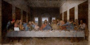 """""""La última cena"""" de Leonardo da Vinci; modificación de la serie """"Art X Smart"""" (Kim Dong-kyu); click en la imagen para más información"""