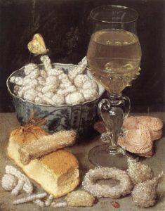 """""""Bodegón con pan y confitería"""" (George Flegel, s. XV)"""