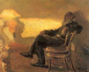 Retrato de Lev Tolstói (1901), por Leonid Pasternak