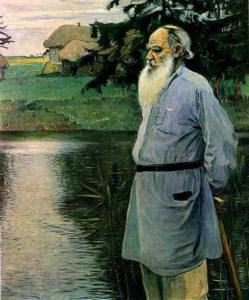 Retrato de Lev Tolstói por Nesterov (1907)
