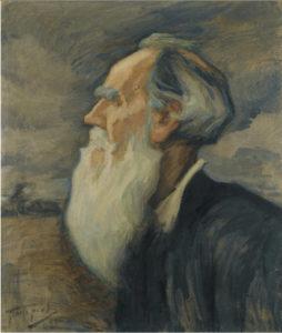 Lev Tolstói en 1908, a los 80 años (Leonid Pasternak)