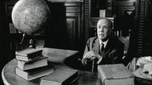 Jorge Luis Borges, en su hábitat