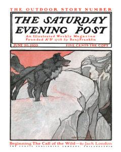 """""""La llamada de lo salvaje"""" (novela de Jack London) fue publicada primero como novela por entregas"""