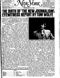 Tom Wolfe escribe sobre un nuevo reporterismo en primera persona