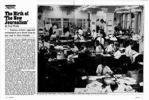 Un artículo sobre los inicios del Nuevo Periodismo