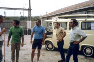 Expedición Fun Hog (1968) desde Ventura (California) a Fitz Roy (Argentina). De izquierda a derecha: Tom Frost, Doug Tompkins (fundador de The North Face), Dick Dorworth, Yvon Chouinard (fundador de Patagonia), y Lito Tejada-Flores